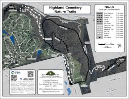 Bluebird Map Highland Cemetery Nature Trails Color Link Gis
