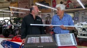 led garage lighting system led shop lights jay leno s garage youtube