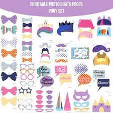 Photo Booth Buy My Little Pony Mlp Party Printable Photo Booth Photobooth Props