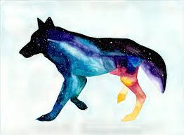 wolf walking watercolor art print wall decor home decor spirit