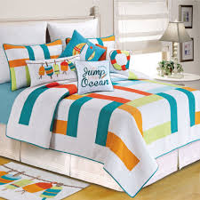 Teal Coverlet Zuma Bay Multicolored Quilt Bedding