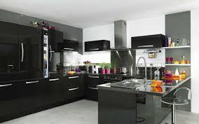 cuisine noir laqué pas cher cuisine blanc laqué pas cher des photos modele cuisine noir et blanc