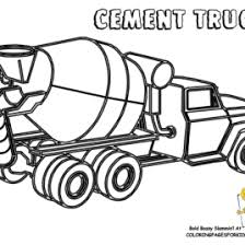 concrete truck coloring page archives mente beta most complete