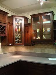 Kitchen Cabinets With Wine Rack Fabulous Brown Color Mahogany Wood Kitchen Cabinets Featuring