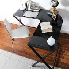 Glass Computer Desk With Drawers Office Inspiring Metal Frame Computer Desk In Black Stylish