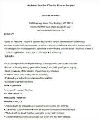 Teaching Assistant Resume Sample by Teacher Resume Sample 28 Free Word Pdf Documents Download