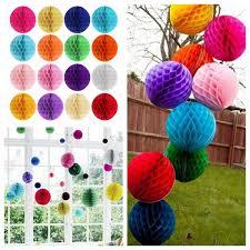 25cm 10 u201d tissue paper pom poms honeycomb ball lantern wedding