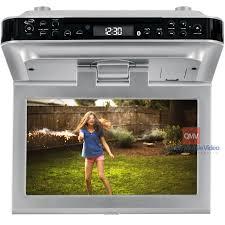 kitchen televisions under cabinet ilive iktd1016s 10 under cabinet kitchen television with dvd