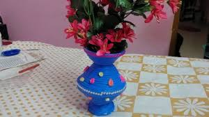 how to make flower pot with newspaper best out of waste diy