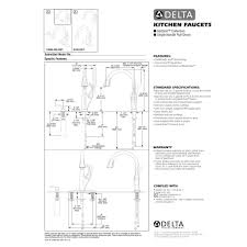 Delta Addison Kitchen Faucet Delta Faucet 9192 Dst Addison Polished Chrome Pullout Spray