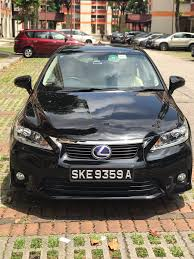 lexus used buy buy used toyota lexus ct200h auto premium car in singapore 71 800