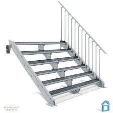 steinhaus treppen zugangstreppe stahl verzinkt 6 stufig mit überlänge bis 240 cm