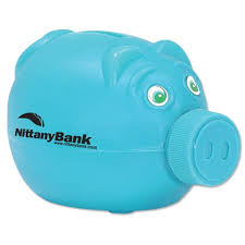 customized piggy bank customized piggy bank with removable nose blue piggy bank with