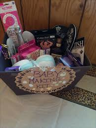 bridal shower basket ideas baby makin kit for bridal shower gift to get u started i included