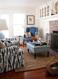 Porcelain Blue Rug Beautiful Rooms In Blue And White Traditional Home