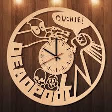 deadpool wooden clock u2013 varietyonex