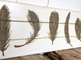 rustic feather sign wooden sign laser engraved farmhouse home