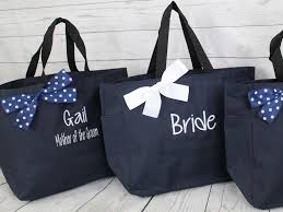 bridesmaids bags 7 personalized bridesmaid gift tote bags monogrammed tote