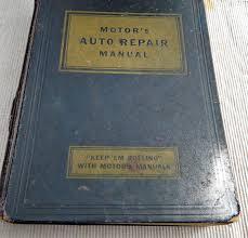 vintage motor u0027s auto repair manual for cars 1935 1951