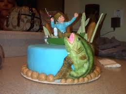 bass fish cake bass fish cake topper a fishing birthday wedding toppers