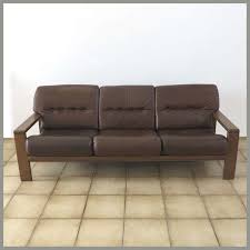 German Leather Sofas Vintage German Three Seater Leather Sofa For Sale At Pamono