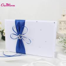 wedding guest book set 25cm 16cm wedding guest book set with satin ribbon bowknot guest