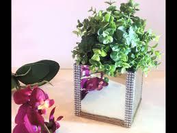 glass vase mirror design home accent decor faux plant jute rope glass vase mirror design home accent decor faux plant jute rope rhinestone youtube