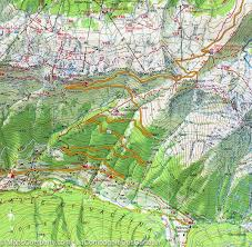 Italian Map Hiking Map 38 The Stubai Alps Alpes Breonies West Tabacco