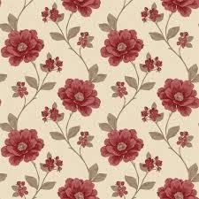 48 red flower wallpaper walls