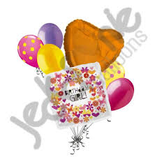 flowers and balloons butterfly tagged happy birthday jeckaroonie balloons