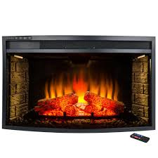 Gas And Electric Fireplaces by Akdy 33 In Freestanding Electric Fireplace Insert Heater In Black