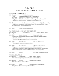 dance resume samples resume template skill how make music free