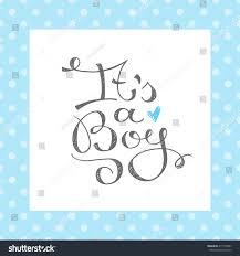 boy vector text baby shower card stock vector 417192697