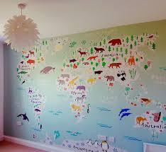 Wall Map Murals John Green Décor Painters Decorators U0026 Wallpaperhangers Fun Kids