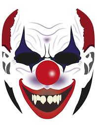 coloring endearing clown mask template coloring clown