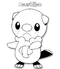 coloriage de pokemon moustillon