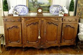 French Country Sideboards - antique solid wood buffet sideboard server wood buffet home