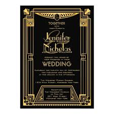 great gatsby 1920s art deco inspired wedding card zazzle com