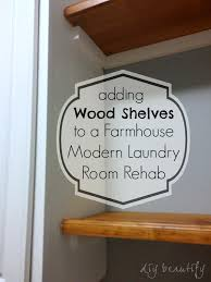 how to add a shelf to a cabinet adding shelves and storage to a builder grade laundry room diy
