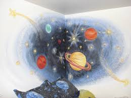 hand painted space mural for boys room boys pinterest spaces hand painted space mural for boys room