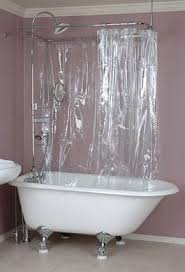Clawfoot Tub Shower Curtain Liner 180 Shower Curtain For Clawfoot Tubs 55 Add A Tile Wall And