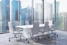modern office conference table panoramic conference room in modern office in singapore white
