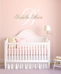Monogram Wall Decals For Nursery Vinyl Decal Nursery Wall Vinyl Wall Decals Name Wall Decal