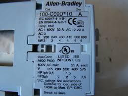allen bradley combination starter 140m d8n b25 100 c09d 10 193