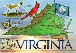 Map Of Virginia by Large Detailed Tourist Map Of The State Of Virginia Vidiani Com
