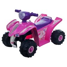 power wheels jeep barbie lil rider pink princess mini quad 4 wheeler atv battery powered