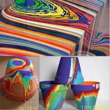diy pour painting flower pots tutorial this crafts
