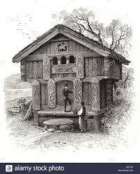 telemark norway scandinavia chalet house home wood ornate carved