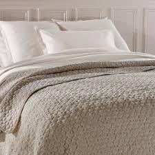 jeté de canapé taupe grand dessus de lit matelassé luxueux 240 x 260 cm taupe beige