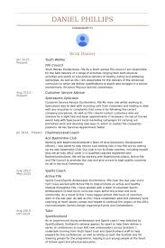 Social Worker Resume Examples by Youth Worker Resume Samples Visualcv Resume Samples Database